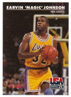 Magic Johnson # 36 - 1992 Skybox USA Team Basketball