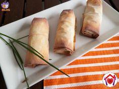 Involtini con prosciutto cotto e formaggio fresco  #ricette #food #recipes