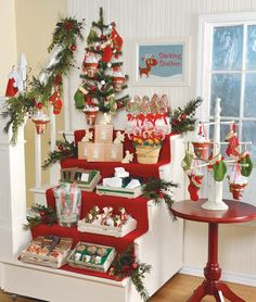 Smart Retailer Magazine - Display Gallery - Make Stuffing Stockings Quick and Easy.  Kind of clever, but may not have room in store.