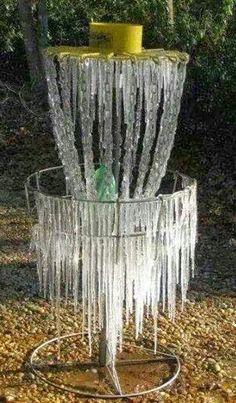 Ice disc golf