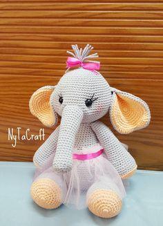 Crochet Elephant/ Handmade Toys / Amigurumi animal / Elephant