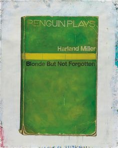 Artwork by Harland Miller, Blonde But Not Forgotten, Made of oil on paper