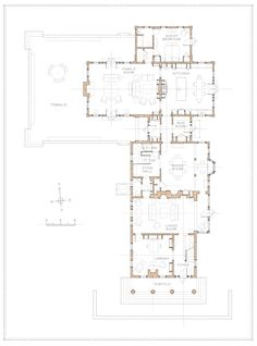 Restorations and Additions to a Century Greek Revival House Sims 4 Family House, Family House Plans, Beach House Floor Plans, Architectural Floor Plans, Architectural Models, Luxury House Plans, Colonial Architecture, Apartment Plans, House Blueprints
