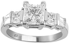1.97 Carat Kathleen Diamond 14Kt White Gold Engagement Ring