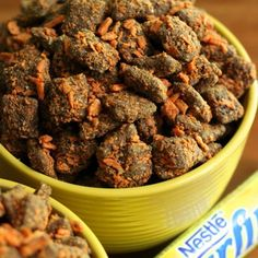 Butterfinger Muddy Buddies...can someone please make me this?!