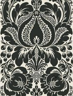 I love anything black and white.  Damask is an elegant way to incorporate black and white into your surroundings.
