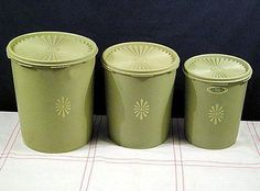 do you remember 70's | 70's Tupperware Canisters