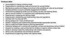 Childcare Resume Skills - http://resumesdesign.com/childcare-resume-skills/