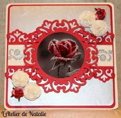 Carte ST Valentin 2014 Rose Rouge Givrée