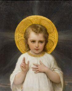 Child Jesus -  Emile Munier, (French, 1840-1895), Jesus, 1893 : Lot 179