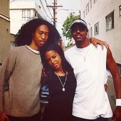 Aaliyah with Derek Lee and his brother #Aaliyah #aaliyahhaughton #aaliyahdanahaughton #dereklee #babygirl #teamaaliyah