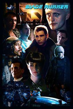 Blade Runner Poster, Saint Genesis on ArtStation at http://www.artstation.com/artwork/blade-runner-poster