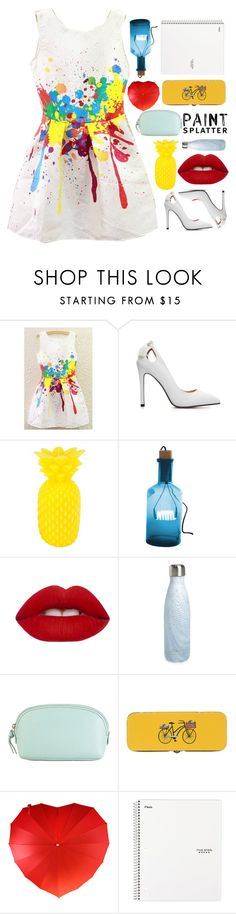 """""""Match up Filler Splatter!"""" by abby-aqua ❤ liked on Polyvore featuring Sunnylife, ZENTS, Lime Crime, S'well, Hadaki, Danica Studio and paintsplatter"""