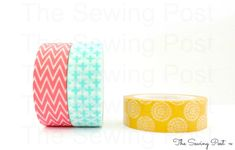 Washi Tape Set: Summer Trio by TheSewingPost on Etsy