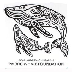 Sticker - PWF Tribal Whale | pacificwhale.org