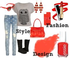 """Red Owl"" by me2carly on Polyvore"