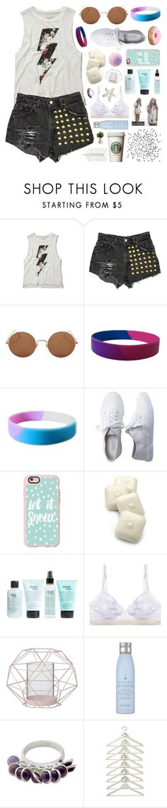 """""""Basic Demi // Day 68/100"""" by rockgirlfriend15 ❤ liked on Polyvore featuring Abercrombie & Fitch, Levi's, Sunday Somewhere, Aéropostale, Casetify, Gianna Rose Atelier, philosophy, Mimi Holliday by Damaris, Bloomingville and Drybar"""