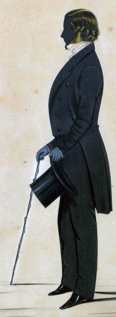 Vintage Silhouette - Gentleman    ::::    PINTEREST.COM  christiancross    ::::
