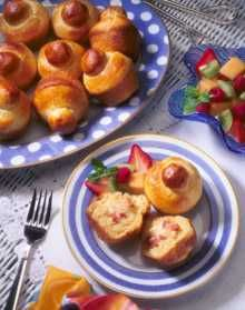 Ham and Cheese Petite Brioche Recipe- hoping I can make these for less than $3/roll... they are SO GOOD at the coffee shop we buy them from!