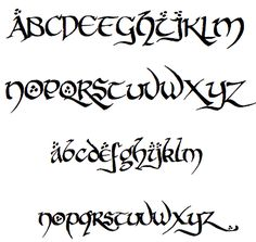 """Hobbit Font. The website is in French, """"Telecharger"""" means """"download"""". There are lots of font options."""