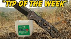 """In-The-Field Knife Cleaning Tip - """"Tip Of The Week"""" E25  http://prepperhub.org/in-the-field-knife-cleaning-tip-tip-of-the-week-e25/"""