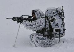 Camuflaje en zonas nevadas. Ejército Español