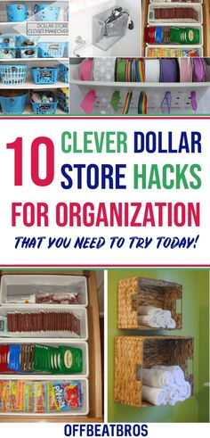 10 Mind Blowing Dollar Store Organization Hacks that are beyond Genius Thes 11 brilliant dollar stor Clutter Organization, Small Space Organization, Home Organization Hacks, Organizing Your Home, Organizing Ideas, Dollar Store Organization, Dollar Store Hacks, Dollar Store Crafts, Dollar Stores