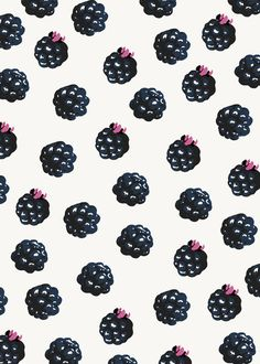 Blackberries pattern Stretched Canvas