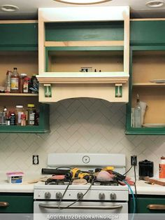 how to build a custom wood range hood cover - 29 - make sure combustible material is at least 30 inches from the stove top