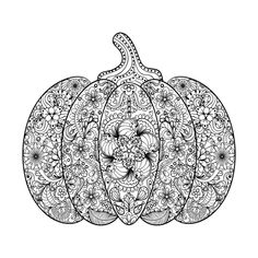 PUMPKIN POSTER. PREMIUM ART. Download the Pumpkin coloring page, print it out, and create your own Halloween coloring book for kids and adults! #fall #free #new