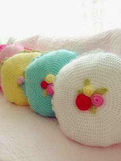 Pretty crochet cushions @ Sweet Elis Home