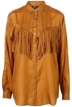 Silk Fringe Western Shirt - Tops - Clothing - Topshop - StyleSays