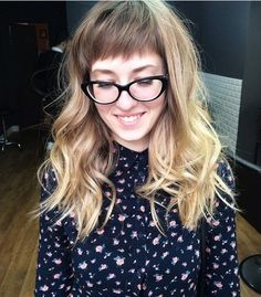 22 Best Hairstyles for Thick Hair - Sleek, Frizz-Free & Contemporary Styles - Curly Long Hairstyle with Blunt Bangs - PoPular Haircuts