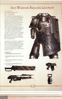 Iron Warriors breacher marine