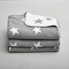 Grey Stroller Blanket with Stars