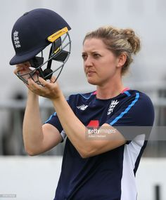 Sarah Taylor of England takes part in a training session at The Cooper Associates County Ground on June 19, 2018 in Taunton, England.