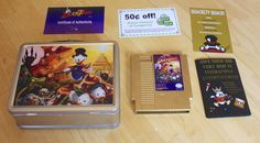 Limited DuckTales rerelease  (http://arstechnica.com/gaming/2013/08/capcom-re-issues-nes-ducktales-as-an-ultra-limited-golden-cartridge/)