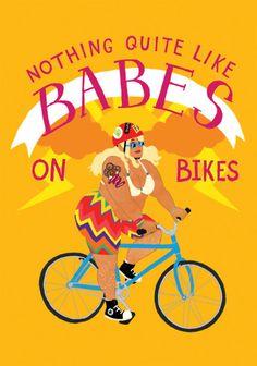 fat bottomed girls on bikes