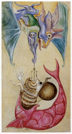 stunning leonora carrington post at 'but does it float' by will (of 50 watts fame)
