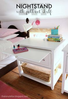 DIY Nightstand with Pull-Out Ledge