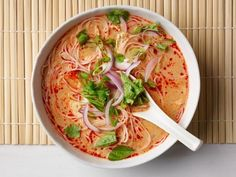 Get Red Thai Curry Chicken Soup Recipe from Food Network