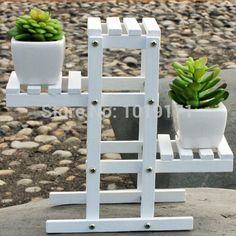 New Big 21cm Garden Indoor Wood Wedding Home Decor Floor Artificial Flower Vase Stand Holder No Vase White F5026