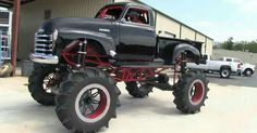 About a '53 Chevy pick em up truck, i say done just right.