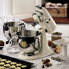 New #kitchenaid artisan kcf0103 #frosted #pearl cook processor ...