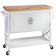 Enjoy clever convenience in your kitchen space with the Hampton Kitchen Trolley from Meubilair. Hamptons Kitchen, Hamptons Decor, The Hamptons, Rolling Kitchen Island, Kitchen Island Bench, Kitchen Trolley Design, Kitchen Islands, Kitchen Tops, Buy Kitchen