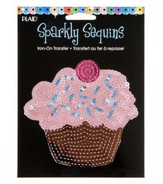 Plaid® Sparkly Sequins Iron On Transfers-Cupcake & iron ons & appliques at Joann.com $4.99