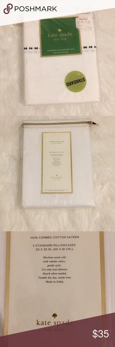 Kate Spade Standard Pillowcases Pair; NWT kate spade Other