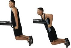 Dips -- the all-around best mass builder for the triceps and lower chest. Dips absolutely MUST be a staple in every workout routine. Non-negotiable.