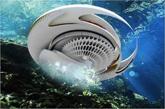 Designer and architect Margot Krasojević recently revealed designs for this futuristic home concept, called the Hydroelectric Tidal House, in which tidal wave power is harnessed to generate energy. Futuristic Home, Futuristic Design, Futuristic Architecture, Art And Architecture, Futuristic Technology, Organic Architecture, Technology News, Contemporary Architecture, Tidal Power