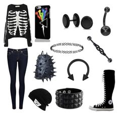 """""""Spiky Book bag"""" by goatshower51602 ❤ liked on Polyvore featuring rag & bone/JEAN, Vans, MadPax, Dorothy Perkins, Bling Jewelry and Converse"""